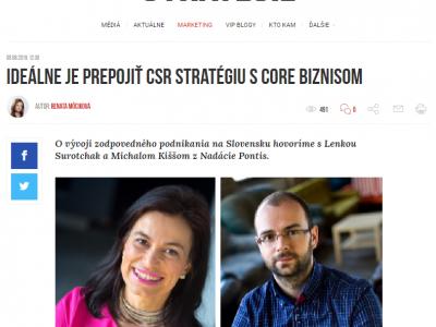 Ideálne je prepojiť CSR stratégiu s core biznisom