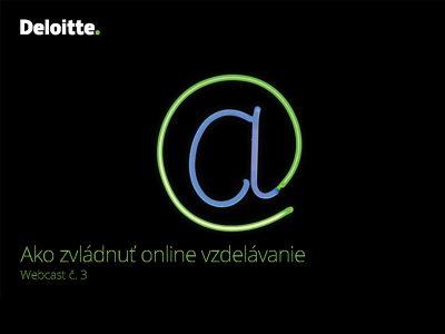 Deloitte podporil online vzdelávanie na slovenských školách